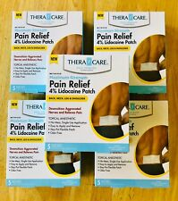 Theracare Muscle Pain Relief Lidocaine Medicated Patch Back Neck Arthritis 25 ct