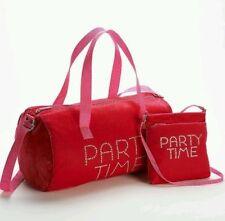 Party Time-- Velvet Duffle Bag & Crossbody Handbag Sleepover Set - Retail $79.99