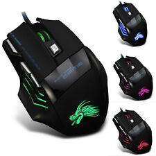 5d08d22b28c 5500dpi LED Optical USB Wired Gaming Mouse 7 Buttons Gamer Laptop Computer  Mice