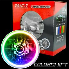 """ORACLE 7"""" Sealed Beam Headlight with ORACLE Pre-Installed ColorSHIFT SMD Halo"""