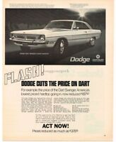 1970 Dodge DART SWINGER 2-door Hardtop art VTG PRINT AD