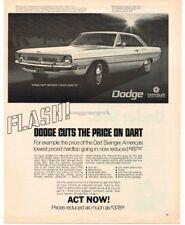 1970 Dodge DART SWINGER 2-door Hardtop art VTG PRINT AD