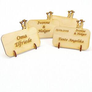 Tischkarte Namensschild Hochzeit Brautpaar Holz Platzkarte Hochzeitstischkarte