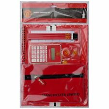 MANCHESTER UNITED OFFICIAL LICENSED PRODUCT STATIONERY SET CALCULATOR PENCILS