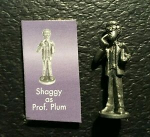 Clue Scooby Doo SHAGGY as PROF PLUM PEWTER TOKEN Replacement 2003 FREE SHIP