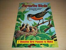 2 Vintage Artcraft-Saalfield - Favorite Birds Punch Out & Project Birds/Flowers