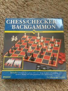 BRAND NEW Sealed CHESS / CHECKERS / BACKGAMMON Classic GAMES! 2003 Pressman