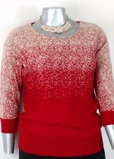 Plus women's JENNY SWEATER Size  XL   3/4 sleeve  (Silver metallic thread) (NMI)