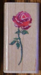 Stampendous Long Stem Stemmed Rose B034 Flower Floral Rubber Stamp Garden Spring