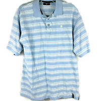 South Pole Authentic Collection Short Sleeve Polo Shirt Blue White Mens Sz Large