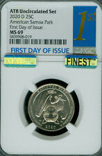 2020-D SAMOA QUARTER NGC MS-69 1ST DAY OF ISSUE MAC FINEST MAC SPOTLESS .