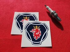 Pair of Scania Griffin logo stickers 68mm