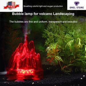 Aquarium Air stone volcano bubble led oxygen fish tank air pump decoration kids