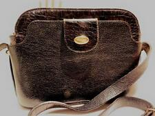 Vintage BALLY Hand Bag Shoulder Italy Pebble & Croc Print