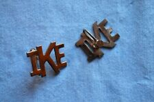 "WWII Era ""IKE"" Screw-back Earings"