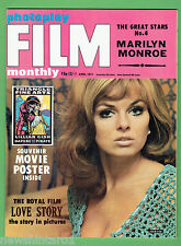 #T68.  MARILYN  MONROE IN  FILM PHOTOPLAY MONTHLY MAGAZINE , APRIL 1971