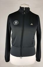 Chelsea Adidas Clima Ladies Training Track Jacket UK 12 Black Running Casual (J)
