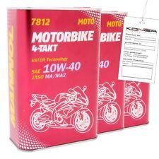 3 Liter MANNOL 7812 Motorbike 4-Takt 10W-40 API SL Motoröl Motorradöl
