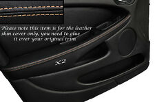 CREAM STITCH 2X FRONT DOOR ARMREST SKIN COVERS FITS JAGUAR X TYPE 01-09