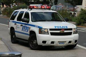 HOTWHEEL POLICE NYPD  CHEVY TAHOE PATROL SUPERVISOR KITBASH CUSTOM UNIT