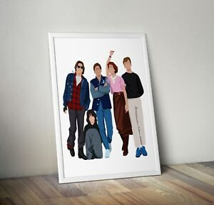 The Breakfast Club, Print, Poster, wall art, gift, home decor