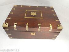 Antigua Caja De pendiente de escritura de palo de rosa, Ref 1349