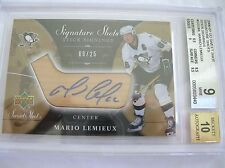 06-07 UD SWEET SHOT SIGNATURE SHOTS STICK SIGNINGS,MARIO LEMIEUX, BGS 9,9/25