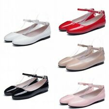 New Casual Women Girls Work Student Shoes Spring Fashion Mary Janes Flats New