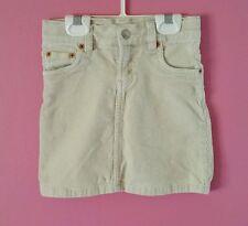 Girls LEVI'S Ivory Corduroy Skirt SIZE 5 Waist Adjusters - PERFECT!