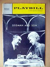 1962 PlayBill Belasco Theatregoers: SEIDMAN AND SON by Elick Moll,Nancy Wickwire
