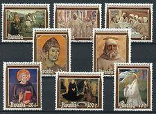 Rwanda 1981 MNH St Benedict 1500th Birth Anniv 8v Set Art Paintings Stamps