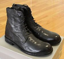 Officine Creative Ideal Boots Gray/Black Leather Size 42 / 9 Brand New