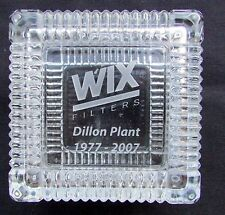 2007 Wix Filters- Dillon, SC Plant 30 Year Anniversary Square Crystal Candy Dish