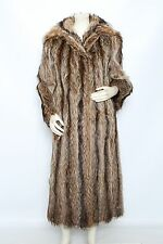 OSCAR de la RENTA Raccoon Long Fur Jacket Coat - Size L XL - Very Good Condition
