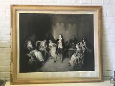 Antique 1867 Par P Cottin Large Engraving Print Schiller A La Cour De Weimar