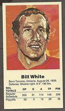 1972 Team Canada Bill White Card