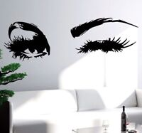 Girl Wall Decals Sexy Winking Eye With Long Lashes Beauty Salon Vinyl Sticker
