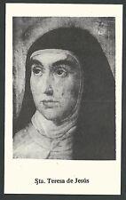 Estampa antigua Santa Teresa de Jesus andachtsbild santino holy card santini
