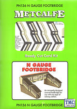 PN136 Metcalfe N Gauge Footbridge Card Kit
