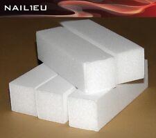 5 X Jeu de limes blanc granulation 120, 95/25/25mm / Tampon polissage bloc