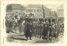 1856 Entry Imperial Guard Into Paris Troops Crossing Place Vendome Social Evils