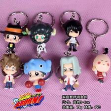 NEW Katekyo Hitman Reborn PVC Figure Keychain Key Ring Pendant Anime Gift 7 pcs