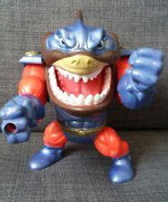 Mattel - 90s-Street Sharks-Slammu-Figura de Acción 1995 Azul Naranja