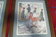 Sunday Morning  May 16,1959 Norman Rockwell  framed wood print