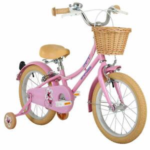 "Emmelle 16"" (40.6cm) Girls Heritage Snapdragon Bike in Pink/Biscuit Kids Ladies"