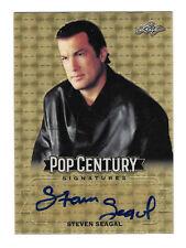 1/1 STEVEN SEAGAL AUTO - 2019 LEAF POP CENTURY GOLD SUPER REFRACTOR AUTOGRAPH