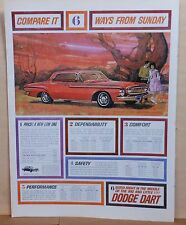 1962 magazine ad for Dodge - Dart, Compare it Six Ways from Sunday