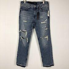 Pacsun Los Angeles Mens Jeans Slim Distressed Comfort Stretch Sz 30 Raw Hem New