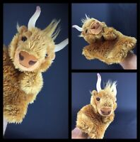 Rare «bison» marionnette à gant main  Faithful Friends collection - haut 33cm