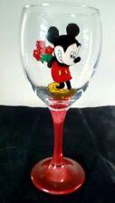 Mickie Mouse Rojo Flores Grande Pintado a Mano Copa De Vino Reino Unido